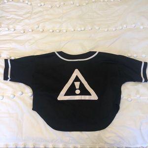 HDYGRLZ Crop Top Jersey (Black )